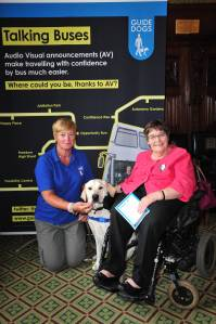 Anne Begg with Guide Dog